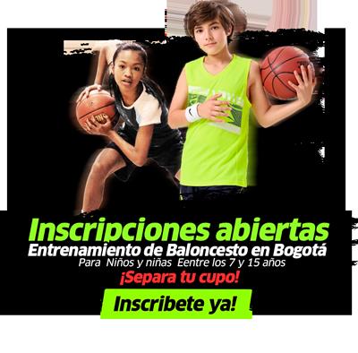 Escuela de baloncesto en bogotá, para niños y niñas de todas las edades