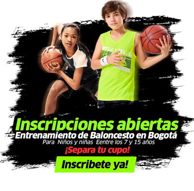 escuela de basketball en bogotá, clases de baloncesto para niños y niñas